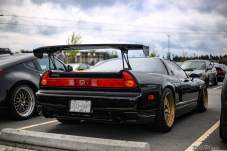 An Acura NSX sporting some serious downforce at Revscene Spring meet